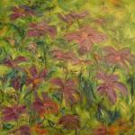 Lilla blomster  60 x 60 cm